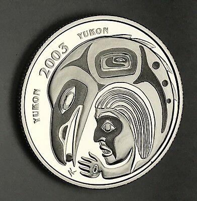 2003 Canada Yukon Silver 50 Cent Half Dollar. Collector Coin For Your Set.