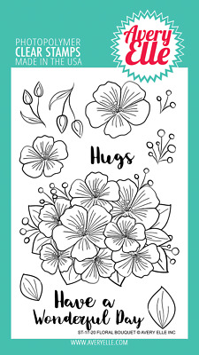 Floral Bouquet - Avery Elle Clear Stamps - Made in USA