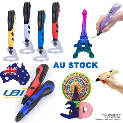 3D Printing Pen Modeling Stereoscopic Drawing Arts Crafts + 5M Filaments Kid  AU