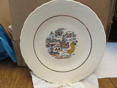 Older NEW JERSEY CERAMIC PLATE (Conrad Crafters, Wheeling, WV)