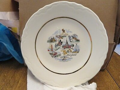 Older MARYLAND CERAMIC PLATE (Conrad Crafters, Wheeling, WV)