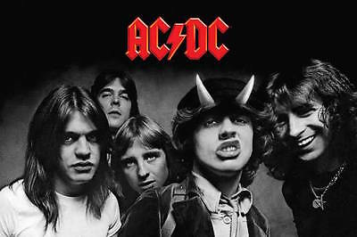 """AC/DC Highway to Hell Band Portrait Poster 24"""" x 36"""" AC DC Dorm Room"""