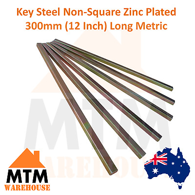 Key Steel Non-Square Zinc Plated 300mm (12 Inch) Long Metric