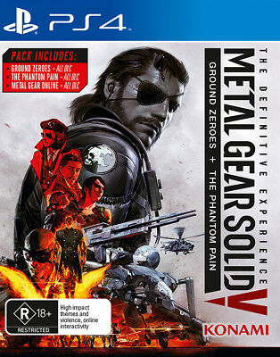 Metal Gear Solid 5 V Definitive Experience PlayStation 4 Game NEW