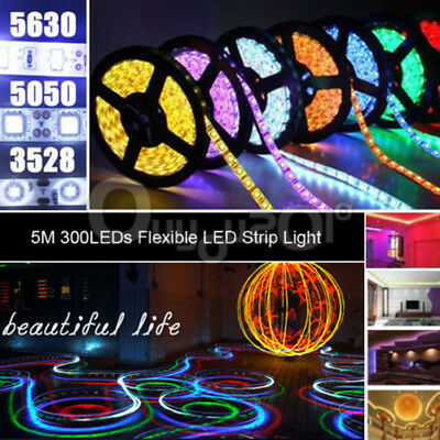 5/10/15M SMD 300 LED Bande Ruban Strip Flexible Fête Noël Mariage Party Déco 12V