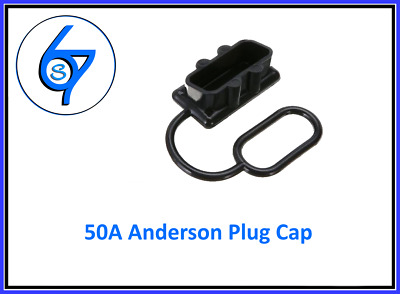 DUST CAP COVER BLACK ANDERSON PLUG 50 AMP DUAL BATTERY 50a
