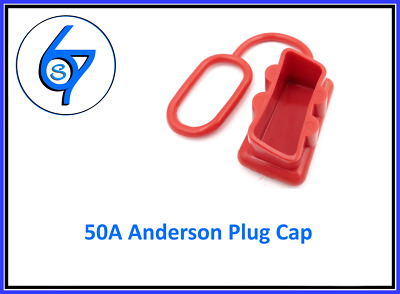 DUST CAP COVER RED ANDERSON PLUG 50 AMP DUAL BATTERY 50a