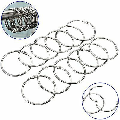 12Pcs Round Stainless Steel Shower Curtain Hooks Rings Anti Rust Good Quality