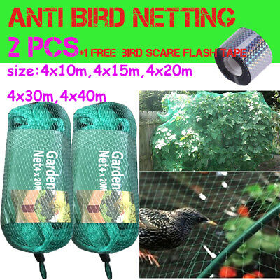 2x Commercial Fruit Tree Plant Knitted Anti Bird Netting Pest Net- Fast Shipping