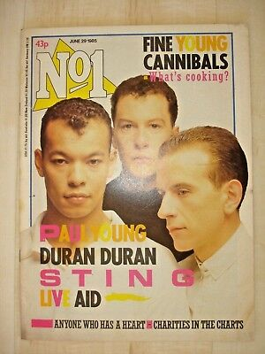 No 1_NUMBER ONE_FINE YOUNG CANNIBALS, LIVE AID, STING, DURAN DURAN, PAUL YOUNG,