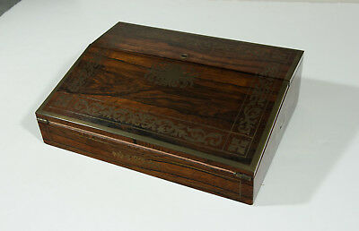 A Quite Extraordinary Regency Brass and Rosewood Writing Slope