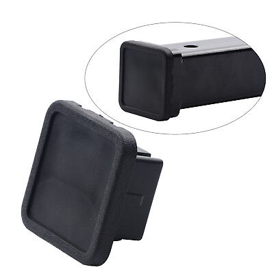 """1 Pc 2"""" Hitch Cover Tralier Hauling Towing Cover Black Rubber Square with Groove"""