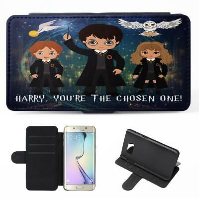 Personalised Harry Potter Samsung Galaxy Phone Case Flip Cover Wizard Witch ET07