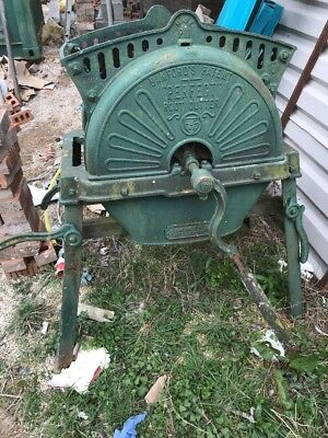 Antique Root Cutter J & W Whittaker Accrington Planter Garden Decoration