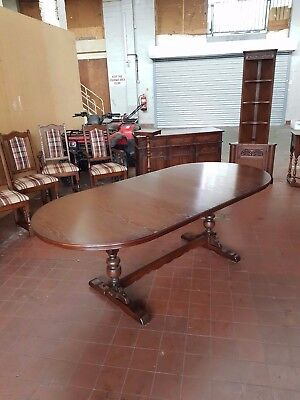Old Charm/jaycee Lancaster Extending Dinning Table Tudor Brown