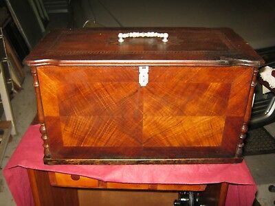 ANTIQUE SEWING  MACHINE COVER as WORKBOX.Sewing box.