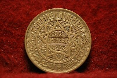 Morocco, AH1365 5 Francs, Y43, Extremely Fine, #3, No Reserve,              34eb