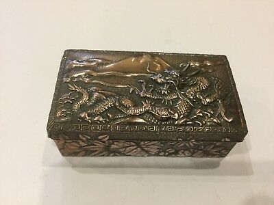 Japanese Beaten Copper Snuff/trinket Box
