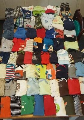 Huge 89 piece lot baby boy clothes size 3 month, 3-6month outfits oneies etc....