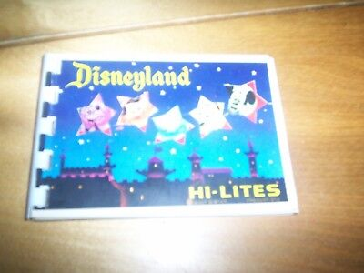 1974 ring bound book DISNEYLAND USA HI LITES PICTURES WITH NARRATIVE