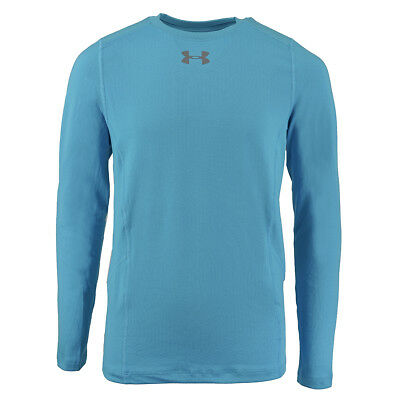 Under Armour Boys ColdGear Infrared Everyday L/S Printed Shirt Sky Blue/Steel XS