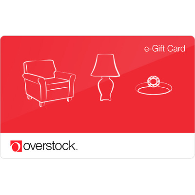 Overstock Gift Card $50 Value, Only $48.00! Free Shipping!