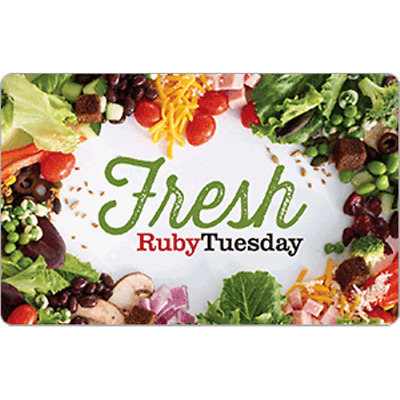 Ruby Tuesday Gift Card $50 Value, Only $45.00! Free Shipping!