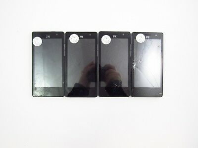 Lot of 4 Cracked ZTE Fanfare 2 Z815 Cricket Check IMEI 5CR 459