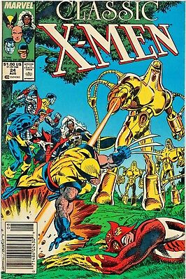 Classic X-Men Volume 1, August # 24 1988 published by Marvel Comics