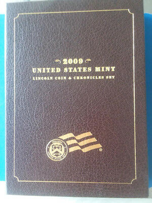 2009 U.S.Mint Lincoln Coin and Chronicles Set. COA, Box, Case