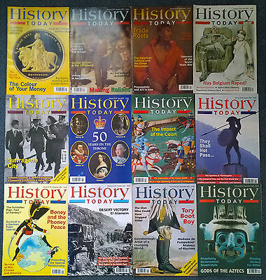 HISTORY TODAY magazines FULL YEAR 2002 x12 (twelve)  issues