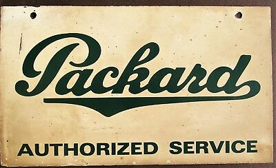 PACKARD Automobile AUTHORIZED SERVICE Double Sided Steel Lithographed SIGN