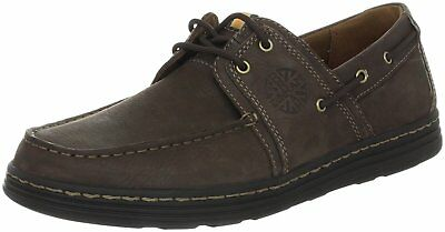 Dunham Men's Chace EVA Lace Up Moc Toe Leather Casual Boat Shoes Brown