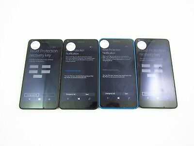 Lot of 4 Nokia Lumia 640 RM-1073 GSM Carriers Check IMEI 3GL 846