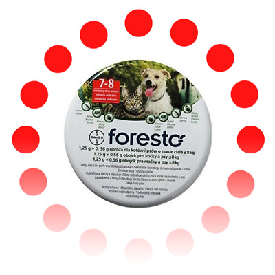 Bayer Seresto /Foresto Flea and Tick Collar For Small Dogs & Cats Up To 18lbs