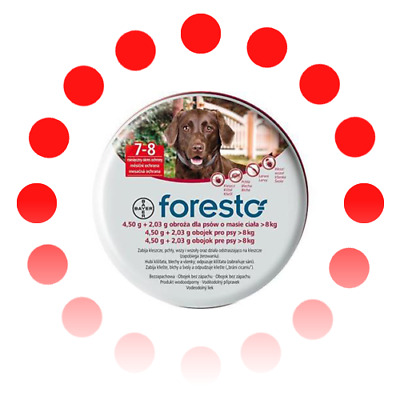 Bayer Seresto /Foresto Flea and Tick Collar For Large Dogs Over 18lbs