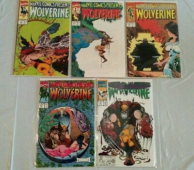 Marvel Comics Presents Wolverine 86-88, 90, 92 NM Acid-Free Sleeves and Boards