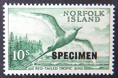 1960-1962 Norfolk Is Stamps - Flora & Fauna-Red Tail Tropic Bird 10/-SpecimenMNH