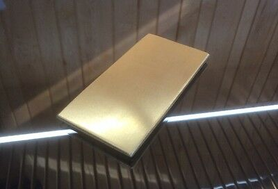 "1/8 BRASS SHEET PLATE NEW 2""X4"" .125 Thick *CUSTOM 1/8 SIZES AVAILABLE*"