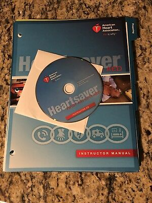 2015 Guidelines Heartsaver First Aid CPR AED Instructor Manual and CD