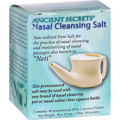 ANCIENT SECRETS Nasal Cleansing Pot Salt 40 PKT