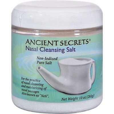 ANCIENT SECRETS Nasal Cleansing Pot Salt 10 OZ