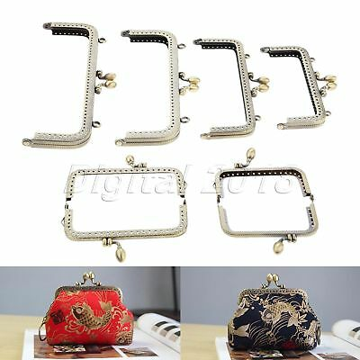 8.5cm-20cm Bronze Square Metal Frame Kiss Clasp For Coin Purse Handle Wallet Bag