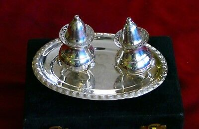 Rare And Antique Silver Plated  Salt And Pepper Set . From British Empire, India