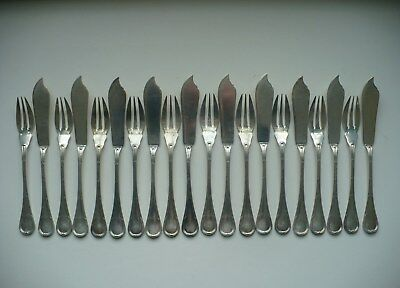 Very Rare 20 Puiforcat Bougainville .950  Sterling Silver Seafood Forks & Knives