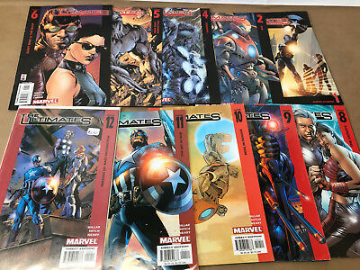 The Ultimates issues 1 2 4 5 6 8 9 10 11 12 Marvel Comic Lot