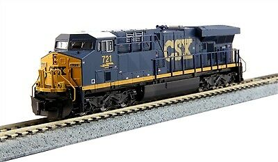 "Kato 17689291 N CSX GE ES44AC ""Gevo"" with DCC Installed #721"