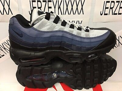 finest selection 24d1e ded65 Nike Air Max 95 Essential Black Obsidian Navy Blue 749766-028 2018 NEW SZ 8