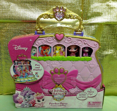 084677bf1f6 Disney Princess Whisker Haven Palace Pets Carry   Play Pawfect Purse Toy  Set New