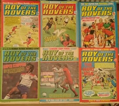 6 x Roy of the Rovers Comics 1981